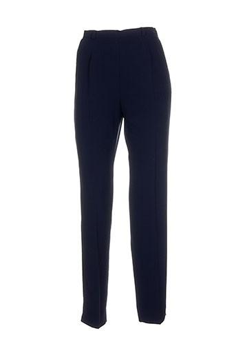 atika pantalons femme de couleur bleu