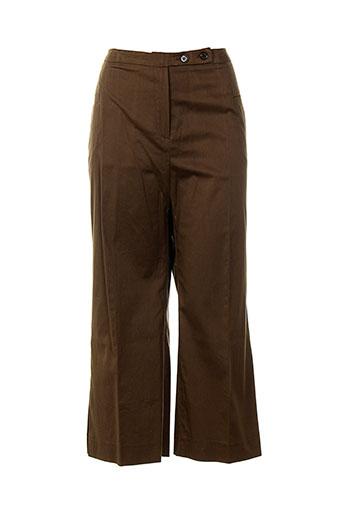 ines de la fressange pantacourts femme de couleur marron