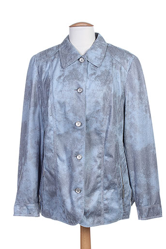 lebek vestes femme de couleur bleu