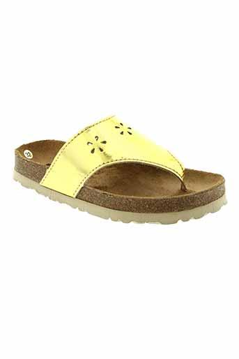 emma tongs fille de couleur jaune