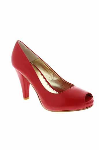christian et rossi escarpins femme de couleur rouge