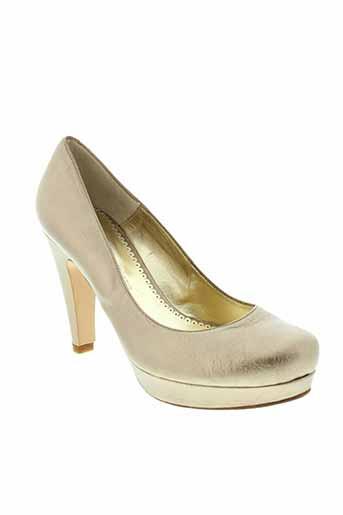 christian rossi chaussures femme de couleur jaune