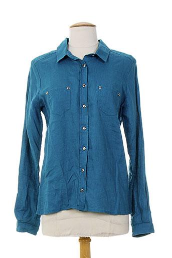 diplodocus chemises femme de couleur bleu