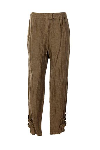bellocoton pantalons femme de couleur marron