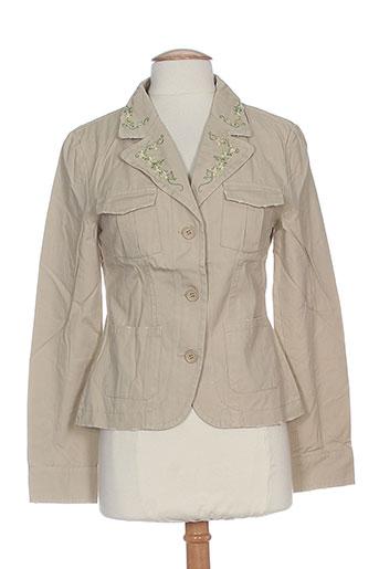 friponne vestes femme de couleur beige