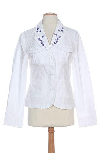 friponne vestes femme de couleur blanc