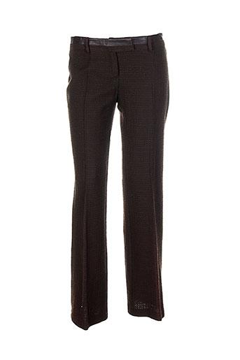 friponne pantalons femme de couleur marron