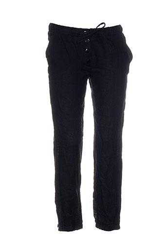 bel air pantalons femme de couleur noir