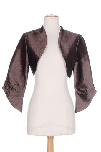 creatif paris vestes femme de couleur marron
