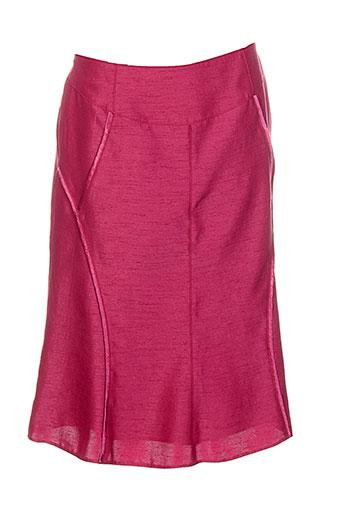 france rivoire jupes femme de couleur rouge