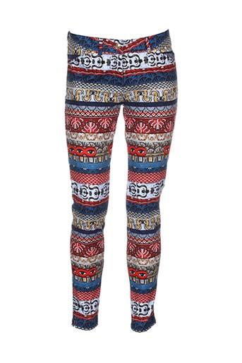 kenzo pantalons femme de couleur rouge