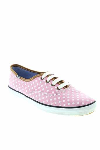 keds baskets femme de couleur rose