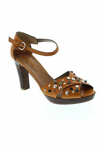 progetto chaussures femme de couleur marron