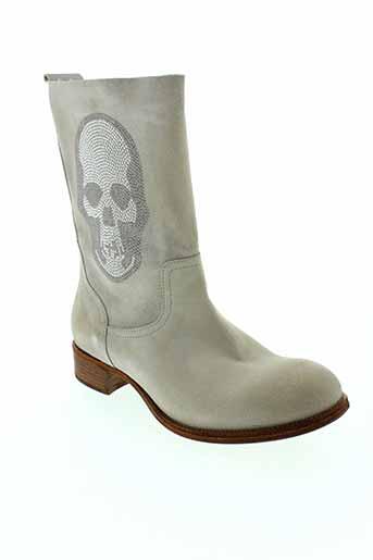 now bottes femme de couleur gris