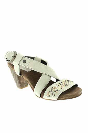 khrio sandales et nu et pieds femme de couleur beige