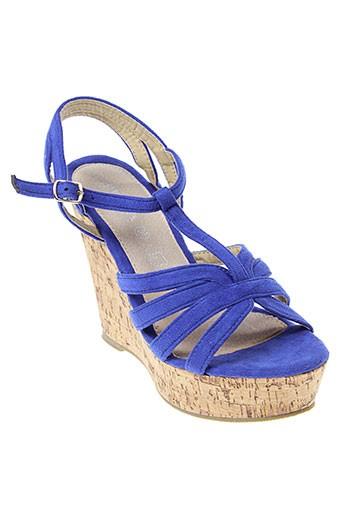 playa chaussures femme de couleur bleu