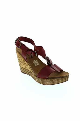 plakton sandales et nu et pieds femme de couleur rouge