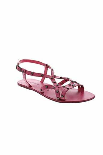 dona et nova sandales et nu et pieds femme de couleur rose