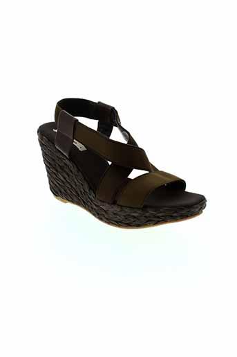 toni et pons sandales et nu et pieds femme de couleur marron