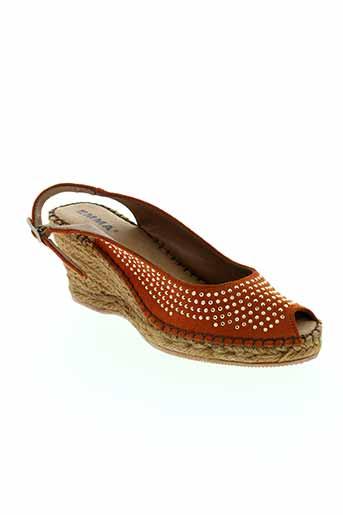 emma chaussures femme de couleur orange