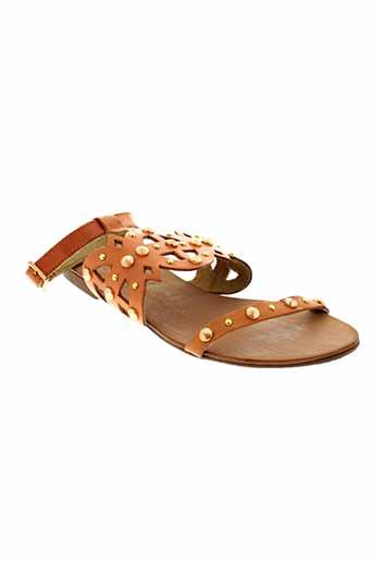 gioseppo sandales et nu et pieds femme de couleur orange