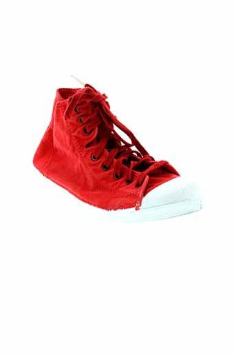 natural world chaussures femme de couleur rouge