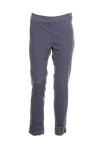 anna scott pantalons femme de couleur gris