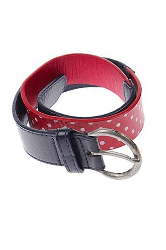 3 et pommes ceintures fille de couleur rouge (photo)