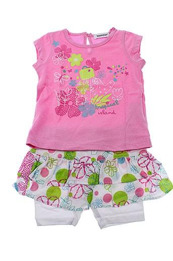 3 et pommes t et shirt et jupe fille de couleur rose (photo)