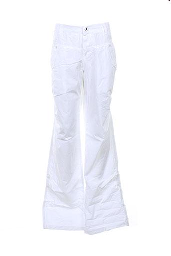 jean bourget pantalons fille de couleur blanc
