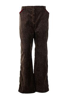 Pantalon casual marron BRIGITTE SAGET pour femme