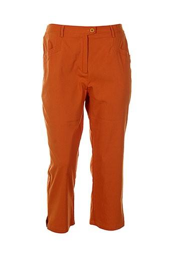 telmail pantacourts femme de couleur orange