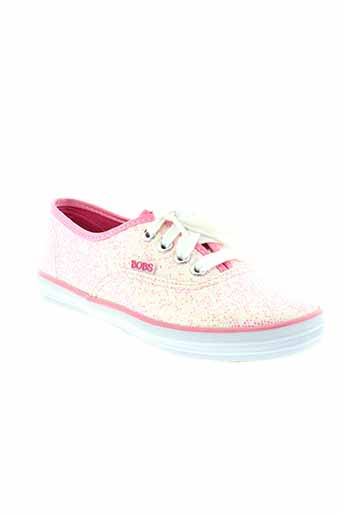 skechers baskets fille de couleur rose