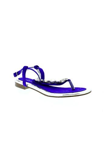 beverly et feldman sandales et nu et pieds femme de couleur bleu