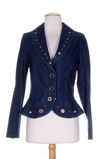 aqua vestes femme de couleur bleu