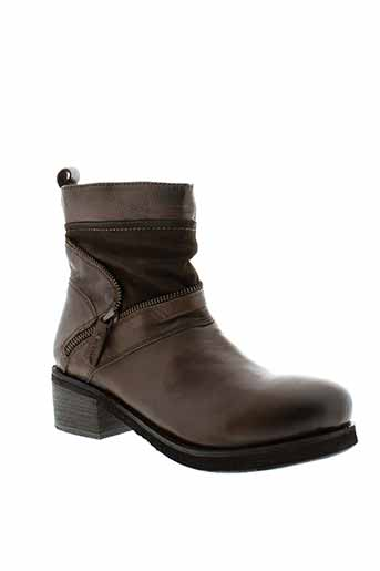 metamorf et ose bottines femme de couleur marron