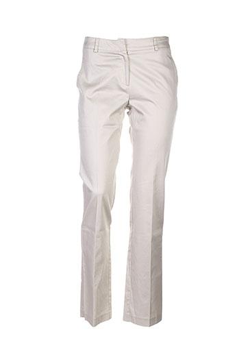 chiquita pantalons femme de couleur beige
