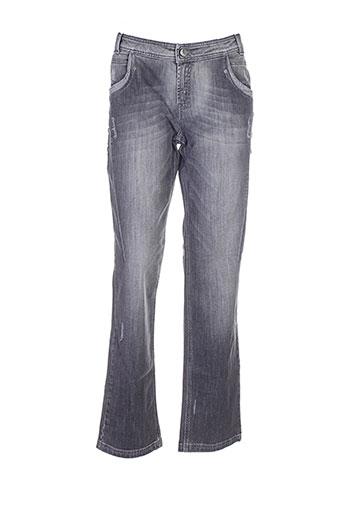 r867 jeans femme de couleur gris