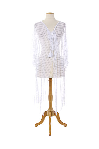 jeanne cerise vestes femme de couleur blanc