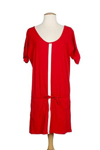 manu hancok tuniques femme de couleur rouge