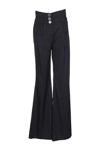 double jeu pantalons fille de couleur noir