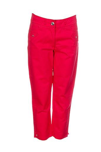 thalassa pantacourts femme de couleur rouge