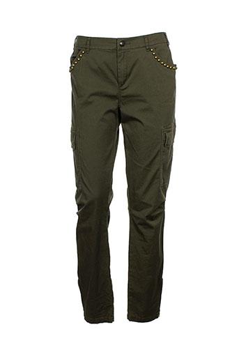 ikks pantalons et decontractes femme de couleur vert