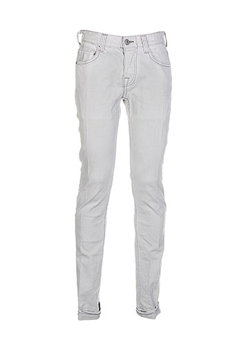 care label jeans homme de couleur gris