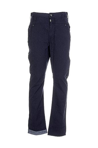 timezone pantalons homme de couleur bleu