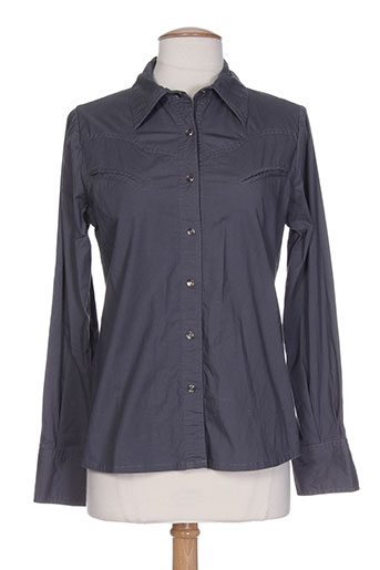 bel air chemises femme de couleur gris