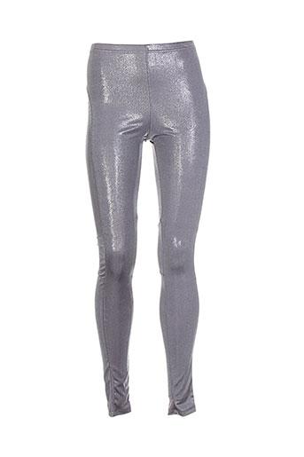rutzou pantalons femme de couleur gris