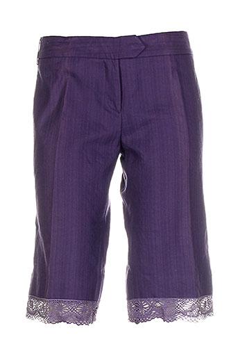 les petites collections shorts / bermudas femme de couleur violet