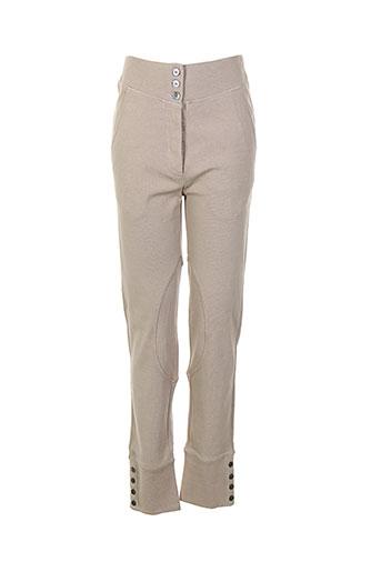 my et pants pantalons et decontractes femme de couleur beige