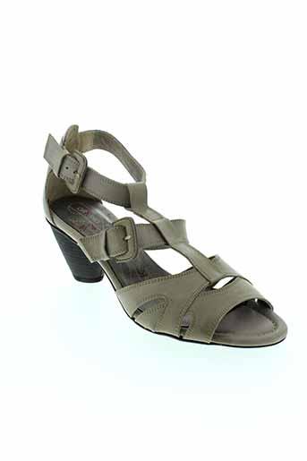 dorking sandales et nu et pieds femme de couleur gris